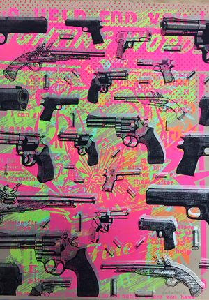 Guns, Guns, Guns – Fatherless monoprint
